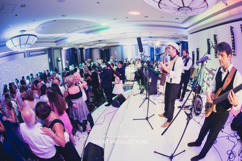 London event productions london wedding production rosewood hotel perry's the wedding company stormont london entertainment agency los amigos band